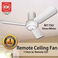 KDK M11SU 3 Blade Ceiling Fan 110cm w/ Remote Ctrl * 1 Year Local SG Warranty