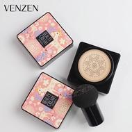 Beauty Crean Venzen BB Cream คุชชั่น พร้อมแปรงหัวเห็ด เพื่อเพิ่มความสว่างให้กับผิว คอนซีลเลอร์กันน้ำ เบาะเห็ด บีบีครีมรองพื้นชนิดน้ำ