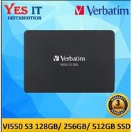 """▩Verbatim Vi550 S3 SATA III 2.5"""" Internal SSD ( 128GB / 256GB / 512GB / 1TB )"""