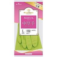 小禮堂 SHOWA 日製  乳膠手套 家事手套 清潔手套 (L 綠)