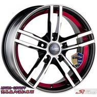 全新鋁圈 wheel ADV-08 16吋鋁圈 4孔100 4孔114.3 5孔108 5孔114.3 黑底車面紅圈