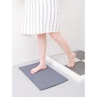 柔軟性硅藻泥吸水墊腳墊防滑吸水墊硅藻土淋浴房浴室門口吸水地墊
