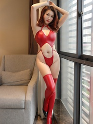 Sex Leather Bodysuit Porno Baby Doll PU Stripper Clothes Sex Party Sexy Hollow Erotic Jumpsuit Nightclub Party Erotic Bodysuits