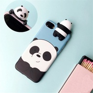 3D Cute Cartoon iPhone 9Plus case We Bare Bears brothers funny toys soft phone case for iphone 5 5s