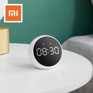 【ของแท้ 100% 】 Xiaomi ZMI บลูทูธวิทยุนาฬิกาปลุกลำโพงปลุกลำโพงควบคุมเสียงดิจิตอลสเตอริโอเพลงรอบทิศทางนาฬิกาปลุก LED