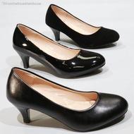 รองเท้า140-11A1BC1C1AC1B รองเท้าคัชชูนักศึกษา รองเท้าส้นสูง รองเท้าคัชชูสีดำ 2.5 นิ้ว FAIRY