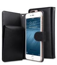 Melkco. - Apple iPhone 8 Plus / 7 Plus B-Wallet 系列真皮手機套 (黑色)