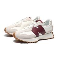 結帳輸入yahoo1212/折扣後3980元 NEW BALANCE 休閒鞋 NB327 復古米白 酒紅 焦糖底 女 (布魯克林) WS327KA
