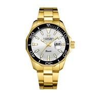 LONGBO 龍波 80512 時尚簡約多邊造型男士鋼帶手錶