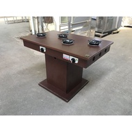 [龍宗清] 萬聯木製4人火鍋桌(瓦斯) (18011702-0002) 四人火鍋桌 單爐火鍋桌 火鍋木桌 營業用火鍋桌