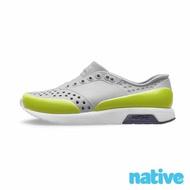 【native】小童鞋 LENNOX 小雷諾鞋(鴿子灰 x 螢光綠)