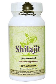 Herbsforever Shilajit (Mineral Pitch direct from Himalayas) (Ayurvedic Supplement), 60 Vege Capsules