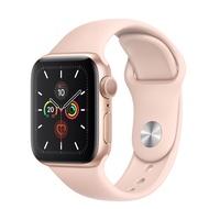 Apple Watch Series 5 GPS 版 40mm 金色鋁金屬錶殼配淺粉紅色運動錶帶 (MWV72TA/A)