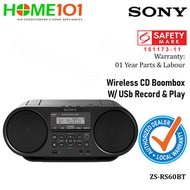 Sony Wireless CD Boombox w/ USB Player ZS-RS60BT