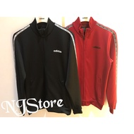 [NJStore]現貨Adidas 小字 Logo 串標 運動外套 立領外套 黑EJ9671 紅EJ9673