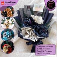 Buket Bunga Kertas DZ Wisuda Murah Flower Bouquet Hadiah Wedding Ulang Tahun Cowok Graduation 2021 Ultah Gift
