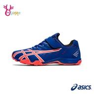 ASICS足球鞋 兒童足球鞋 室內足球鞋 男童女童足球鞋 慢跑田徑鞋 亞瑟士 LAZERBEAM B9178#藍橘