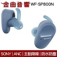 Sony 索尼 WF-SP800N 藍 防水 真無線 降噪 藍芽耳機 | 金曲音響