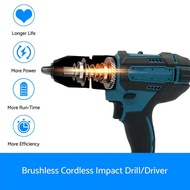 18V Cordless drill For Makita Cordless Drill Electric Combi Impact Driver Screwdriver 18V LXT- Body