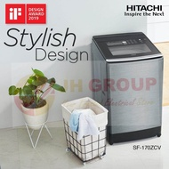 HITACHI JAPAN 17KG INVERTER HOT WASH TOP LOAD WASHING MACHINE WASHER SF-170ZCV BUILT IN HEATER AUTO SELF CLEAN *LARGER THAN PANASONIC NA-FS16V5SRT StainMaster+