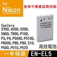 特價款@攝彩@Nikon EN-EL5 電池 Coolpix 3700 4200 5200 5900 P100 P3