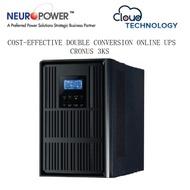 NEUROPOWER CRONUS 3K 3KVA TRUE DOUBLE-CONVERSION SINEWAVE ONLINE BACKUP BATTERY/UPS