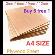 A4 size Plywood 3mm/ 6mm/ 9mm/12mm