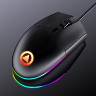 電競滑鼠 光學滑鼠 USB有線 電腦滑鼠 辦公黑色3段DPI 七色呼吸燈
