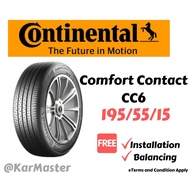 195/55/15 Continental CC6 Tyre (with installation)