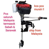 Engine Boat 60cc/ 4stroke / 4hp /boat engine/engine bot/engine kayak/injin bot/kayak engine/outboard engine/boat/kayak