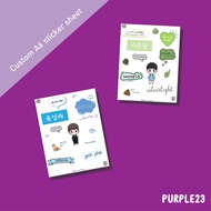 Custom Sticker Sheet Printing A6 size