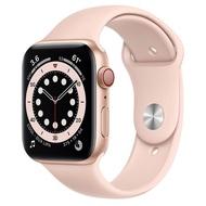 【現貨】 Apple Watch S6 LTE 44mm 金色鋁金屬-粉沙色運動型錶帶 神腦生活