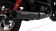 進口奧地利REMUS哈雷750改裝變聲排氣輕量化黑色排氣管