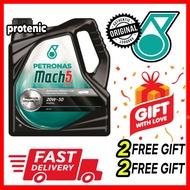 🔥100% GENUINE🔥Petronas Mach 5 Plus 20W50 4L Engine Motor Oil Fluid for Perodua Proton Car Mineral Oil 20w-50 Minyak
