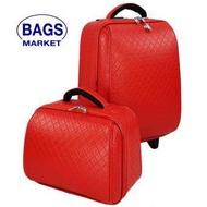 Wheal กระเป๋าเดินทางล้อลากเซ็ทคู่ แม่ลูก 18/14 นิ้ว Chanel Classic (Red)