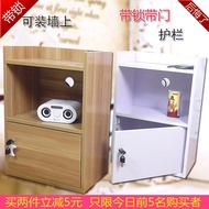 IKEA mini easy with simple modern solid wood storage cabinet with doors locked bedside table Cabinet