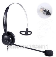 RJ9/RJ11 plug headset with microphone RJ9 office call center headset for telephone phone headset