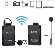 Boya BOYA 2.4GHz Wireless Lavalier Microphone System with BY-UM2 Gooseneck Interview Microphone for
