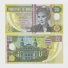 【耀典真品】摩納哥 - 格蕾絲 凱莉王妃 20 法郎 測試塑膠鈔