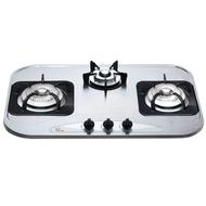 喜特麗檯面式三口不鏽鋼瓦斯爐/JT-3002/天然