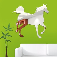 120 Diy Home Decor Removable Wall Stickers Acrylic 3d Horse Acrylic Mirror Stickers Removable