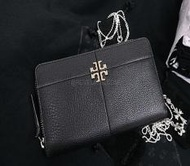 Tory Burch Ivy Zip Continental Wallet Black Gold Hardware