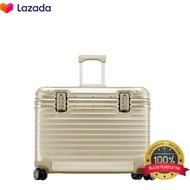 BAGGAGE LUGGAGEกระเป๋าเดินทางชนิดแข็ง ไพล็อต อลูมิเนียม สีทอง ขนาด 16 นิ้ว จำนวนจำกัด