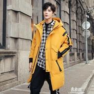 限時搶購-羽絨服男士中長款2020年新款大鵝潮流迷彩冬季潮牌青少年工裝外套