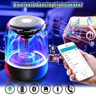 Car Speakers Portable Bluetooth 5.0 Speaker Transparent LED Luminous Subwoofer TWS 6D Surround HIFI Stereo Cool Audio For Driving Camping Home