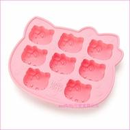 asdfkitty可愛家☆KITTY大臉8連矽膠模型 製冰盒-做巧克力-手工皂-冰塊-果凍.蛋糕-日本正版商品