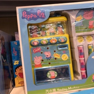 现货热销小猪佩奇玩具香港小豬佩奇佩佩豬電動販賣機汽水機自動汽水售賣機過家家玩具