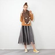 【Dailo】拼接點點配色紗裙-女長裙(二色/版型適中)