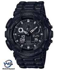 Casio G-Shock Black Out Texture Limited Edition Watch GA-100BT-1A