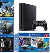2019 Playstation 4 PS4 Slim 1TB Console + Playstation VR Headset + Playstation Camera + 8 Games Bund